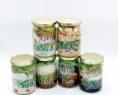 Jarful of salads from  around the world