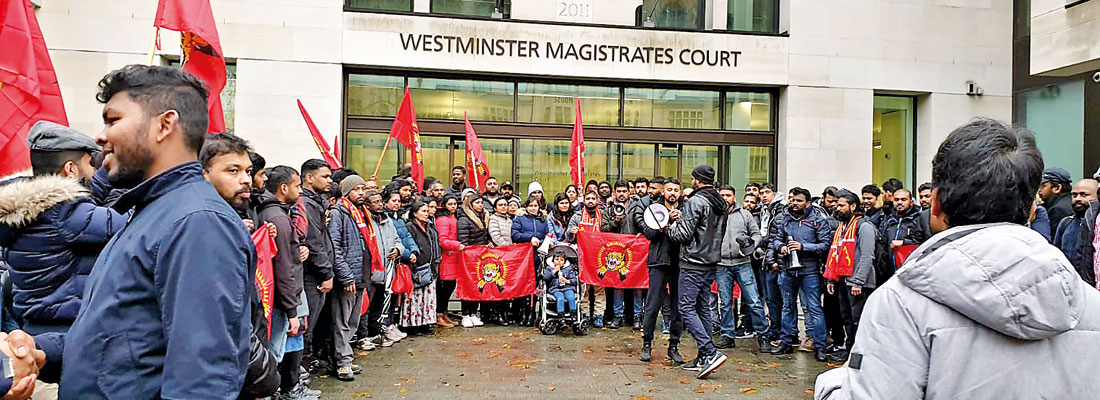 Foreign Ministry slams brandishing of LTTE flags outside British court