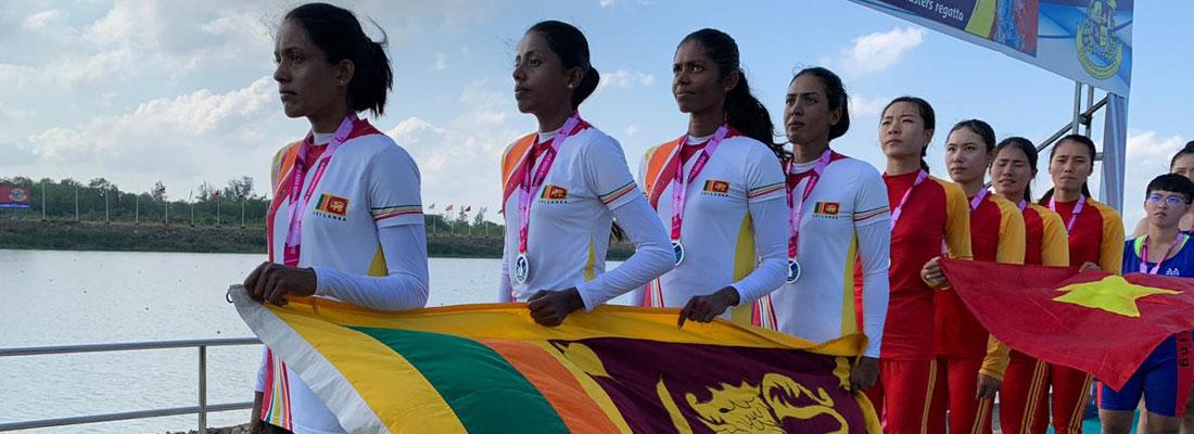 Sri Lanka oarswomen bring home first Asian medal