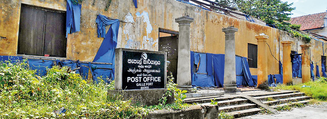 Galle Heritage site: Things fall apart