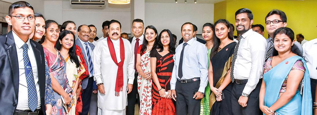 "Prime Minster Mahinda Rajapaksa pays a courtesy visit to NSBM Green University"""