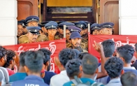 Stand off between Police and students at UGC