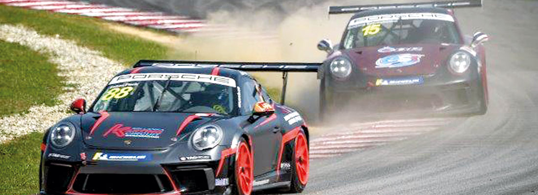 Two podium wins for Eshan on Porsche debut