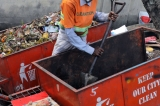 Risking their lives to keep a city clean