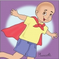 The bald-headed kid