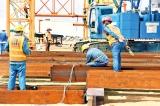 Port city work resumes