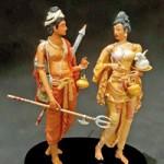 Princess Hemamala and Prince Dantha bringing the Sacred Tooth Relic to Sri Lanka