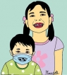 The smiling face mask