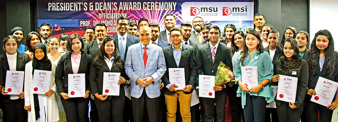 Management & Science Institute (MSI) 2020 Academic Excellence awards ceremony