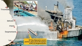 Non-stop fire fight at sea