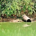 Polluting waterways
