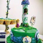 First effort: The 3D Rapunzel cake for her  daughter's 4th birthday