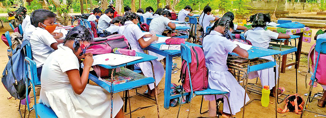 Outdoors to play games,  but also to study: The plight of this school's students