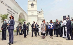Tight security ring for Pompeo at Kochchikade church