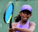 Saneshi wins a double at  Tamil Union Tennis