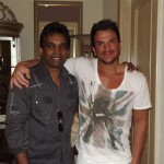 Damian with Peter Andre