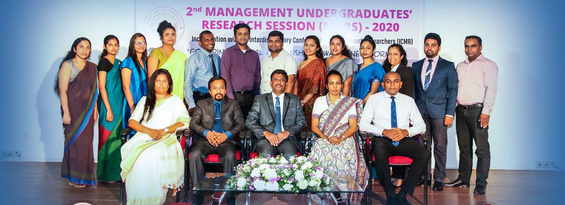 2nd Management Undergraduates' Research Session (MURS) 2020