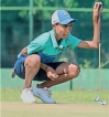 Golf prodigy swings for glory