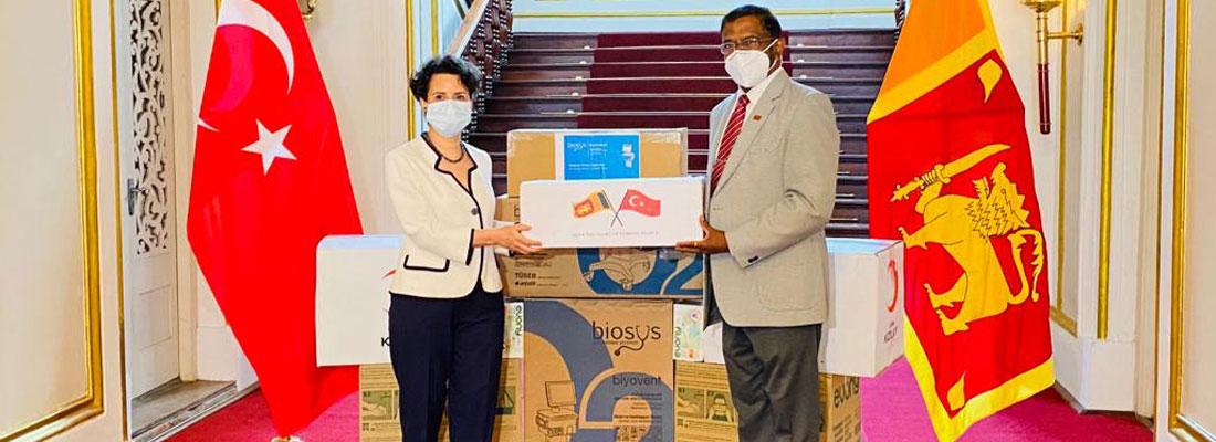 Turkey donates ventilators, face masks to Sri Lanka to fight COVID-19