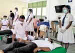Blood donation drive at Jayawardena Vidyalaya