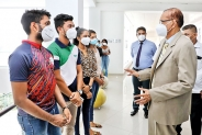 Prof. G. L. Peiris pays visit to NSBM Green University
