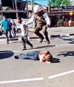 Traffic cop stomping on a suspect: The unanswered question