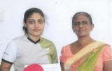 Tharushi, 19, a promising paddler