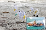Blazing ship ruins Indian Ocean's pearl