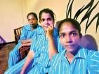 Activists in Air Force pyjamas