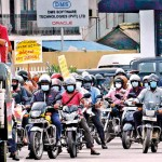 Protest by the JVP and trade unions. Pix by Akila Jayawardana, Eshan Fernando and Sarath Siriwardene
