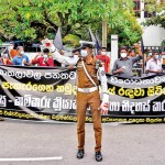 Protest against KNDU Bill at Town Hall