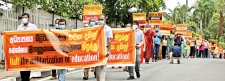 Kelaniya University Teachers protest against KNDU Bill