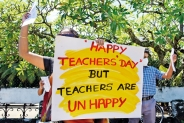 Teacher's Day 2021 celebrated with protests