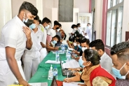 A/L students get their vaccines